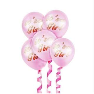 (In Stock) Baby Shower Balloon Set(5pcs)-It's a girl