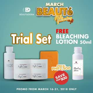 Beautederm Trial Set Promo with FREE Lotion 50ml