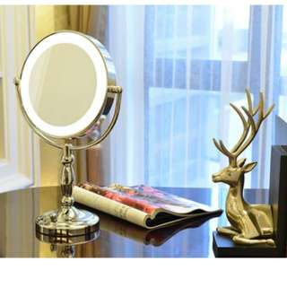 8 inch tabletop LED light Make up mirror
