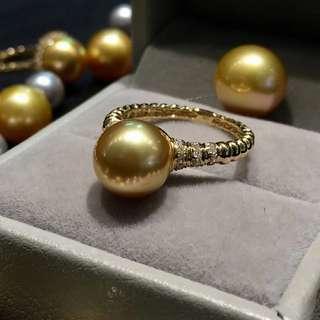 三款小金珠戒指💍 正圓無瑕 一號金又亮又濃 小太陽🌞一樣 圖一:9-10mm,圖二,三:10-11mm 你喜歡哪個😊