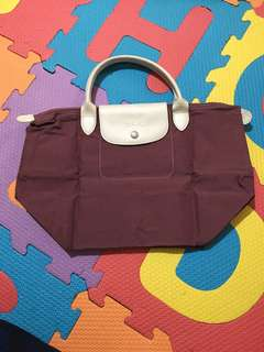 Longchamp small short handle in old rose