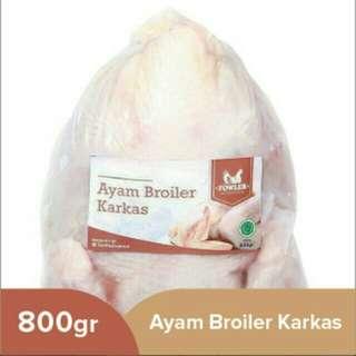Ayam boiler karkas fowler 800gram