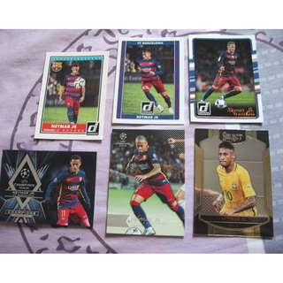 Neymar trading cards for sale/trade (Lot of 6 cards)