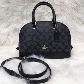 Coach Mini Sierra in Siggy Black Smoke