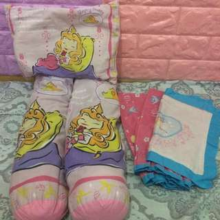 BABY PRINCESS AURORA BABY BOLSTERS AND PILLOW
