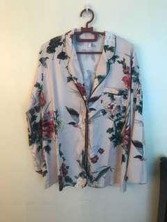 Pajama top zara inspired