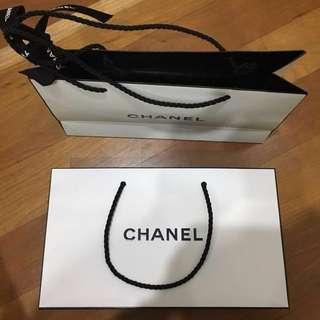 Original Chanel paper bag 24cmx14cmx7cm
