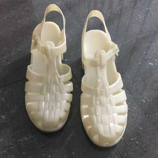 White jelly heels size 38