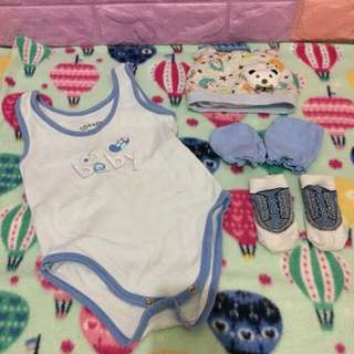 4PCS NEWBORN BABY BOY SET