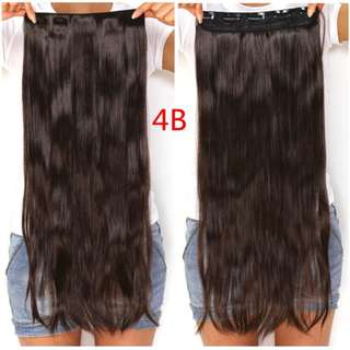 Clearance Sales ! Choco Brownish 5 Clips Straight Hair Extensions