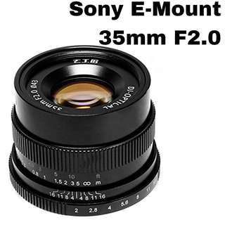 7Artisans 35mm for Sony E-Mount