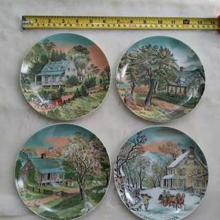Four Seasons Decorative Plates by Currier & Ives