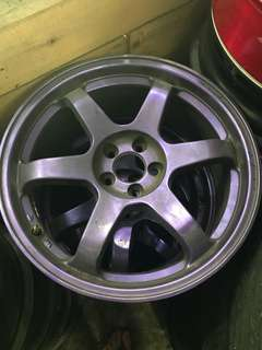 "17"" rims 5X100 purple 17x7.5"