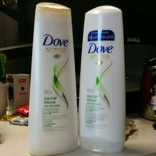 Dove Nutritive Solutions - Hair Fall Rescue Shampoo / Conditioner at S$8 each