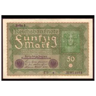 德國紙幣50馬克