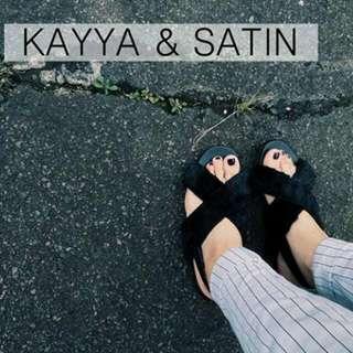 Kayya & satin Sandal Preloved