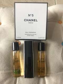 💯 Authentic and New Chanel No.5 EAU PREMIERE (EAU DE PERFUME) 3 x 20ml