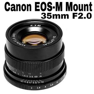 7Artisans 35mm f2.0 for Canon EOS-M Mount