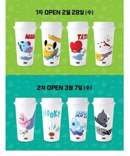 PO Hand Carry BTS x Dunkin Donuts Re usable Cup