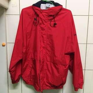 古著寬鬆運動外套 紅色