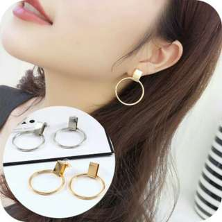 (PO) Minimal Circle Earrings -016