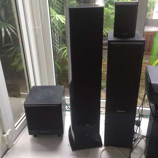 Accusound OM-700 5.0 5 Speakers Home Theatre Sytem