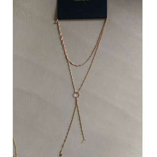 Forever 21 gold layered necklaces