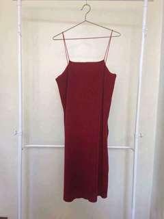 Zara Slitted Textured Long Top