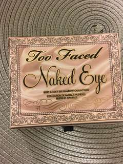 Too faced Naked Eye sort & sexy eye shadow collection