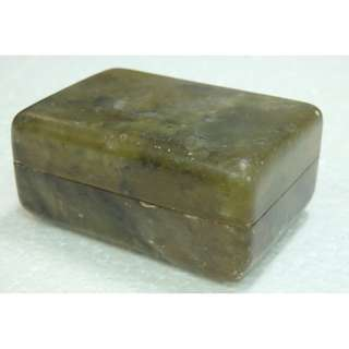 清代 - 玉石印章盒
