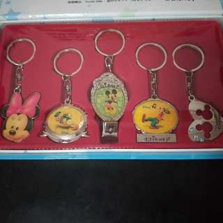 HK Disneyland keychain full set