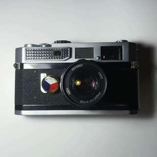 Canon 7 + 50mm Industar