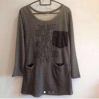 Grey Long Sleeve Top / Dress