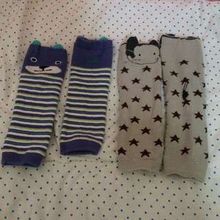 2 PAIRS OF BABY LEG WARMERS