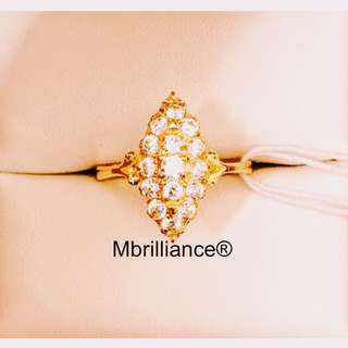 Marquise cz stones ring 916 gold by Mbrilliance