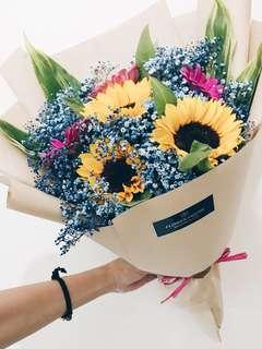 3s sunflower bouquet