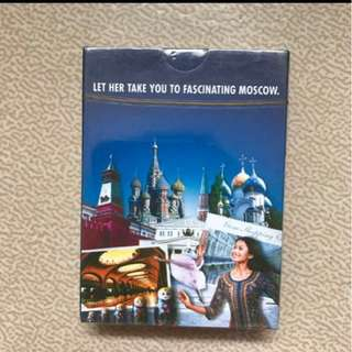Official SIA Singapore International Airlines Playing Poker Cards    Brand new, still in wrapper    Airline air line Russia Moscow  Let her take you to fascinating Moscow