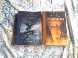 Percy Jackson: Book 2 - The Sea of Monsters and Book 3 - The Titan's Curse