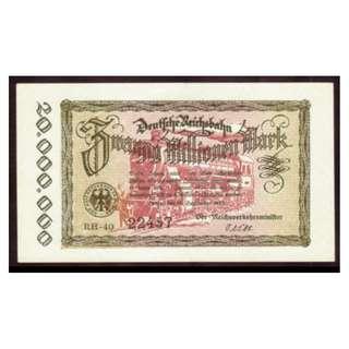 德國紙幣20,000,000馬克