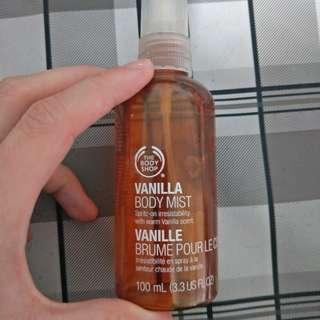 #allforfree The Body Shop vanilla body mist