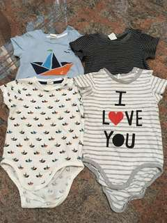 Set of 4 pcs H&M baby rompers