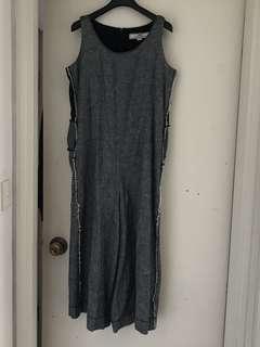Initial size 2 牛仔濶䃿 jumpsuit