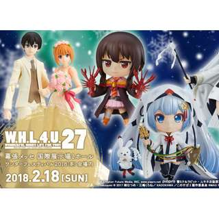 Pre-order Good Smile Company GSC Wonfes 2018 Nendoroid (Megumin School Unifrom Ver. and Snow Miku 2018: Crane Priestess ver.)