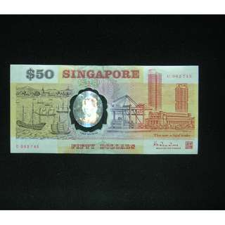 Plastic $50 old notes serial no C062745 & D329063