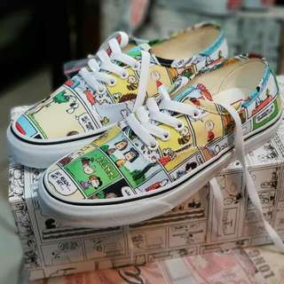 Vans Authentic Peanuts Comic Black True