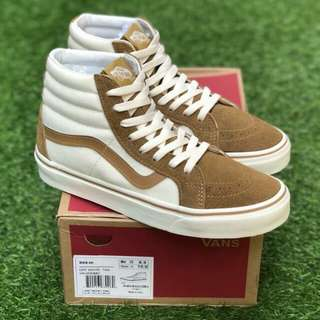 SK8 OFF WHITE TAN PREMIUM WAFFLE DT BNIB (Brand New In Box) FULL TAG BARCODE MADE IN CHINA 40/41/42/43/44