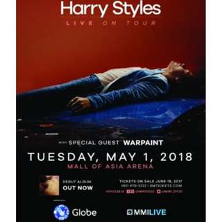 LOOKING FOR HARRY STYLES LIVE IN MANILA 2 PLATINUM TICKETS