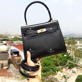 (SOLD)Bally Vintage 黑色 Box皮 Kelly Bag