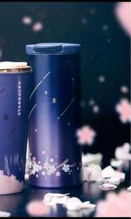 BN Starbucks Sakura Night Blooms Shooting Star Tumbler