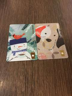 STARBUCKS CHINA XMAS & LNY CARDS